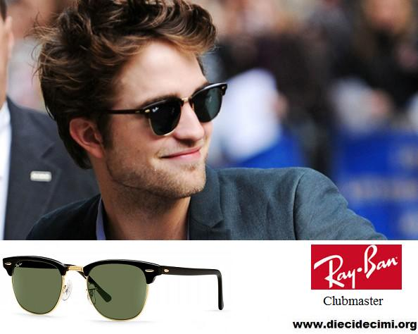 Robert pattinson sceglie occhiali ray ban clubmaster classic